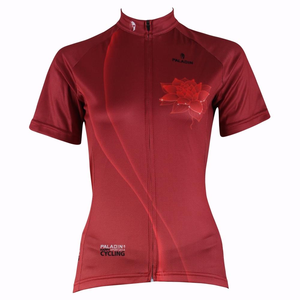 """PALADIN """"Червен лотос"""" Дамска риза с къс ръкав с велосипед Джърси"""