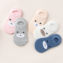 Invisible-Socks Boat Baby Kids Cotton Cartoon Children 5-Pair New Unisex Casual Bear-Pattern