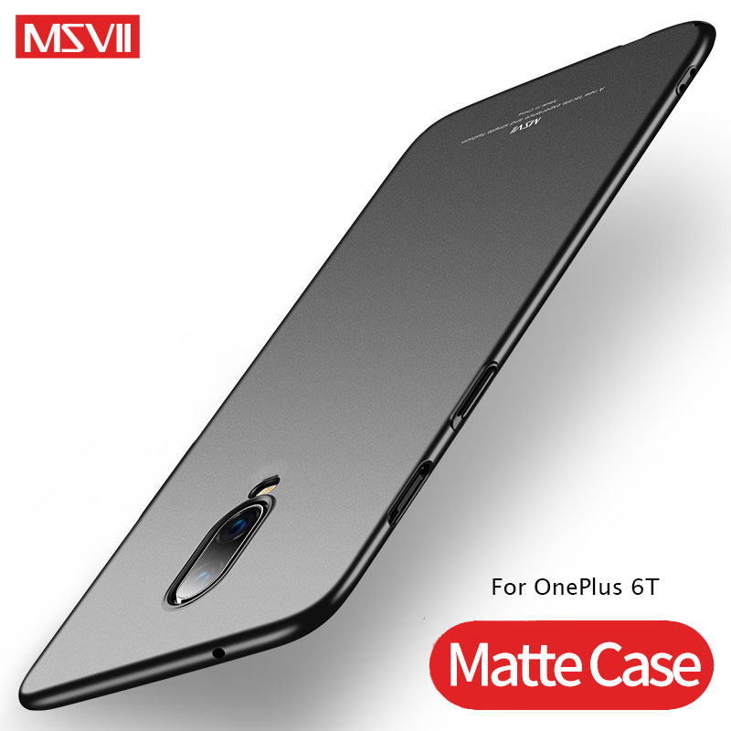 OnePlus 6T 6 T Case Cover MSVII Luxury Matte Coque For OnePlus 5T Case OnePlus 6 5 T PC Hard Back Cover OnePlus5 OnePlus6 T Case