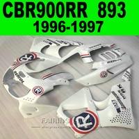 Beyaz r fairing kiti honda cbr900rr 893 96 97 cbr900 rr 1996 1997 için (ems ücretsiz grenaj) cn01