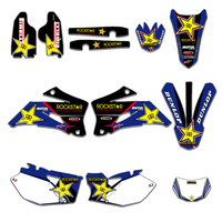 Blue Star New Style TEAM GRAPHICS & BACKGROUNDS DECALS STICKERS Kits For Yamaha WR250F 2007 2013 WR450F 2007 2011 WRF 250 450