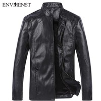 2017 New Arrival Faux Leather Jackets Men S Stand Collar Jacket Outwear Men S Coats Spring