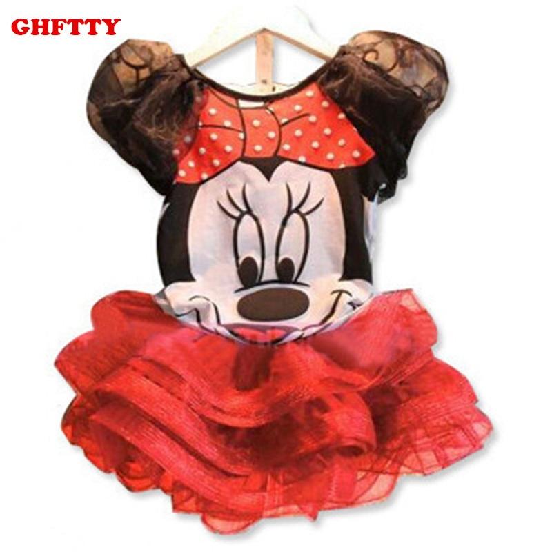 Baby Girl Dress Summer Style Kids Dress Cartoon Organza Veil Girls Lovely Tutu Dress Minnie Mouse Girl Clothing Dress For Girl