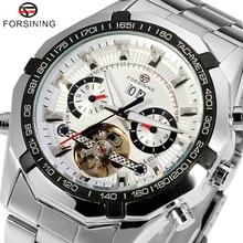 Marca de lujo forsining moda hombres mecánico automático relojes casuales relojes deportivos relogio masculino w15400
