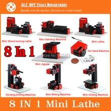 8 en 1 Mini máquina del torno , Mini máquina combinada herramienta ; para Metal blando o de procesamiento de madera, mejor regalo para los estudiantes