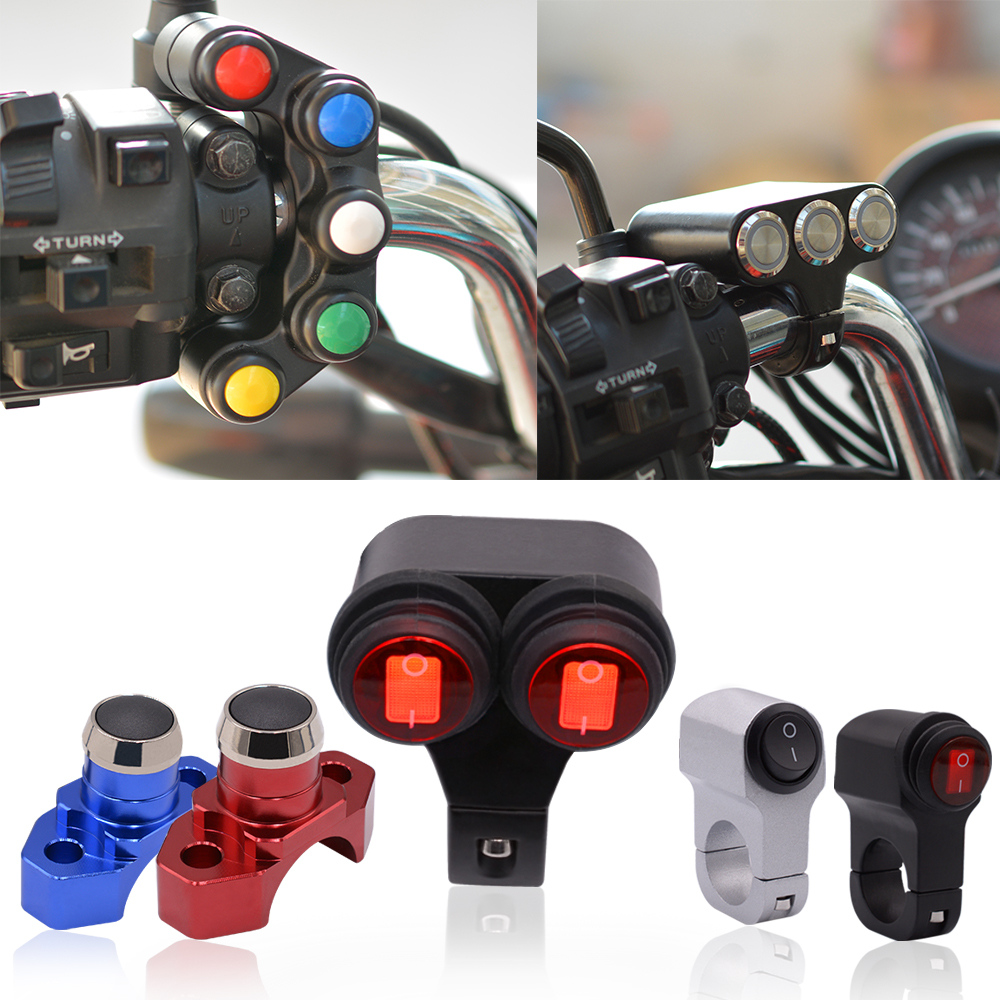 WUPP 12V Headlight Motorcycle Switches Scooter Handlebar Mount Signal lamp Fog Lights Horn for ON OFF Start Ignition Switch цена
