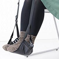 Fashion Portable Cotton Knitted Footrest Flight Carry On Foot Hammock Rest