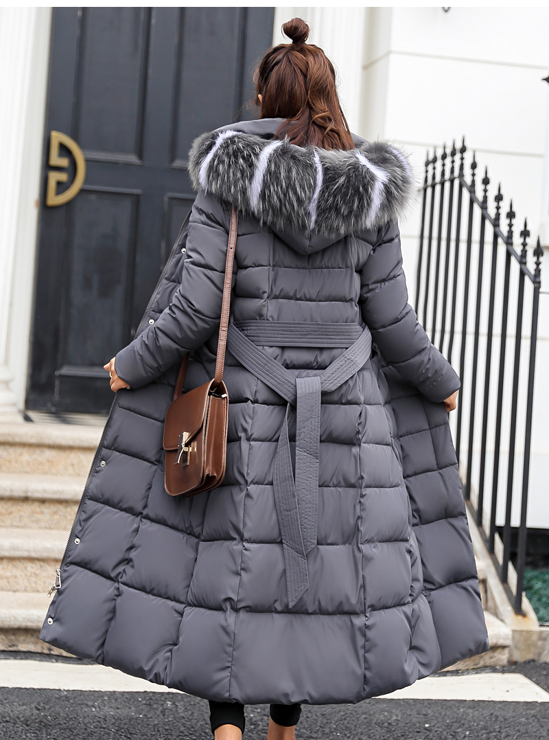 19 high quality fur collar women long winter coat female warmth to overcome