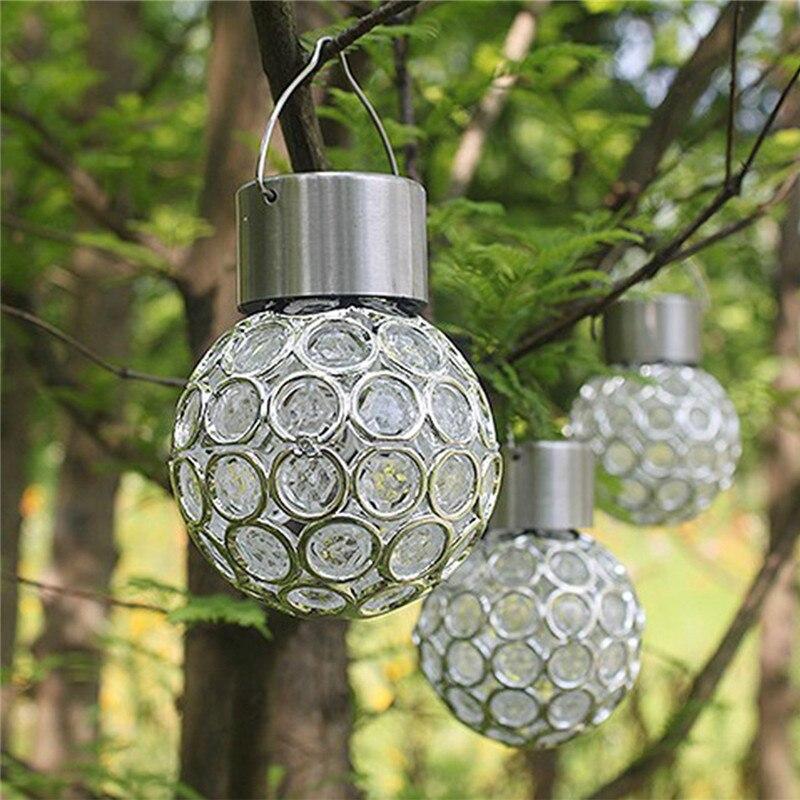 Extérieur solaire paysage lampe paon oeil suspendus lumière LED changement de couleur suspendus lumières pour Villa jardin cour rue Patio