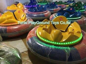 New Inflatable Cool Look Kids Adult Cartoon Funny Electric Bumper Car rotation 360 car