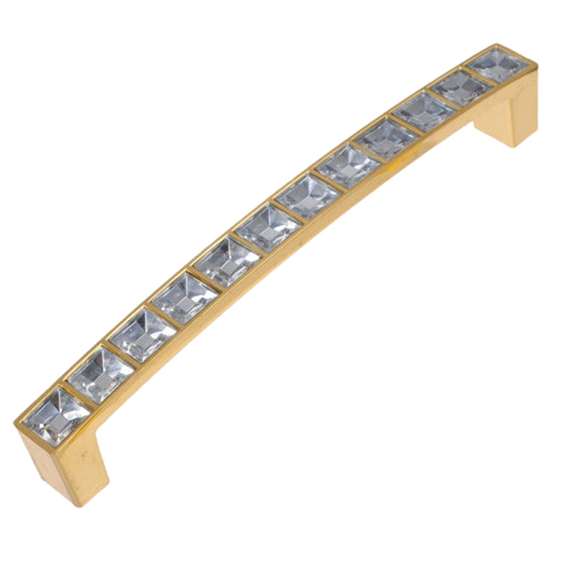 8Pcs Cabinet Drawer Cupboard Door Wardrobe Square Knob Handle Crystal 128mm Gold стоимость