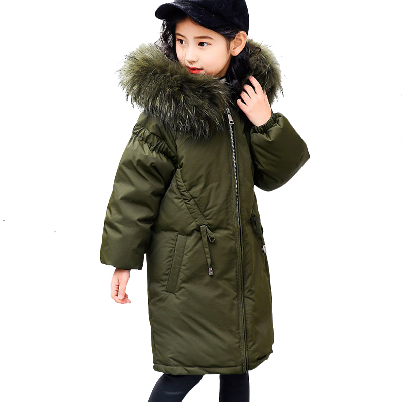 Children Winter Jacket Girl Winter Coat Kids Warm Thick Fur Collar Hooded Long Down Coats for Teenage 6 8 11 10 12 14 Years Old teen girl winter coat parka long down puffer hooded fur collar children winter jacket kids thick clothes for 6 8 10 12 14 years