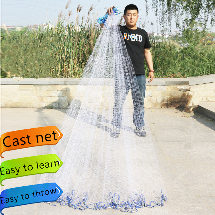 Hot sale 2 4m 7 2m fishing net high quality american style for Fishing net for sale