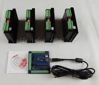CNC TB6600 mach3 usb 4 Axis Kit, 4pcs TB6600 1 Axis Driver + one mach3 4 Axis USB CNC Stepper Motor Controller card 100KHz