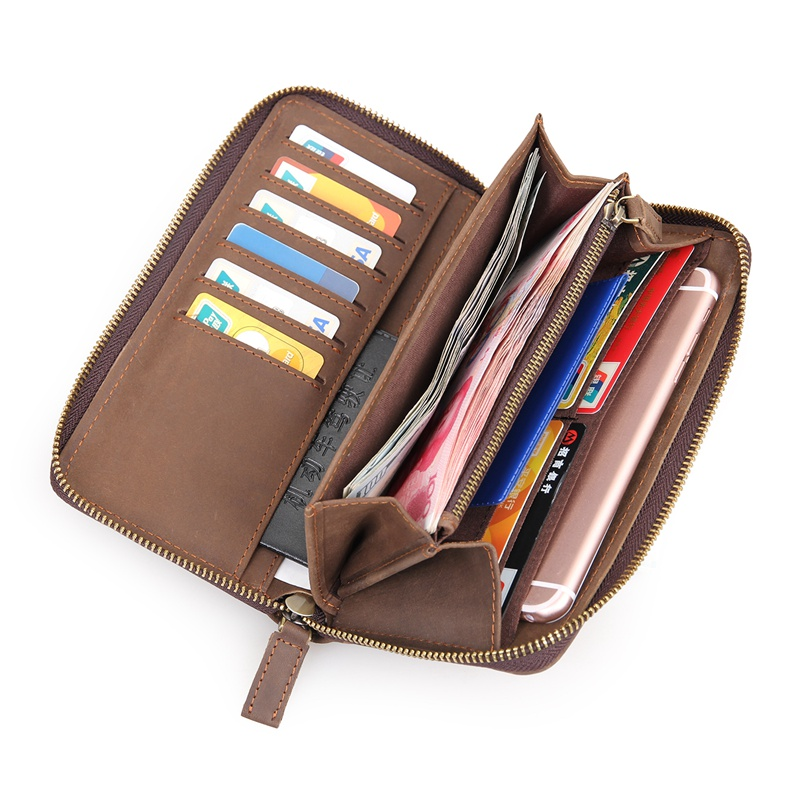 JMD Real Cow Leather Wallet Men 39 s Clutch Bag Credit Card Holder Purse 8127 1R in Wallets from Luggage amp Bags
