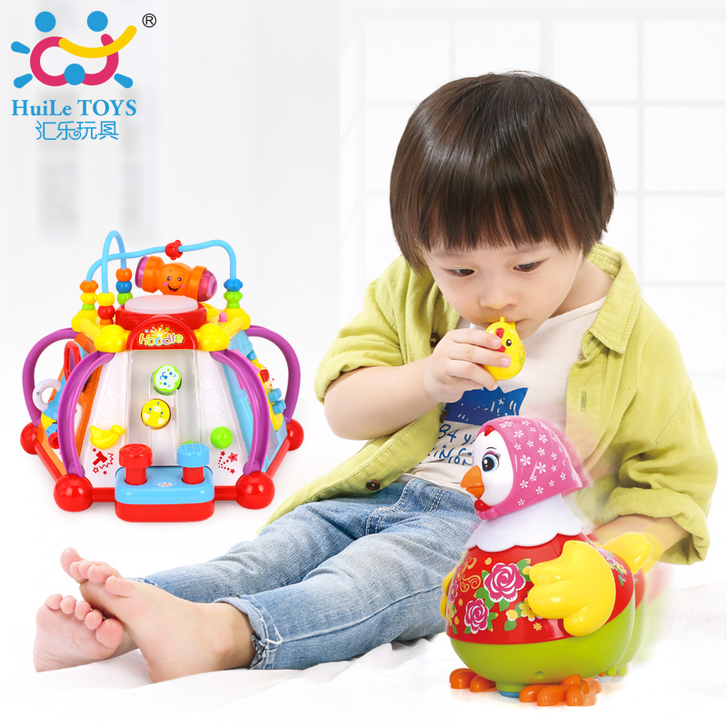 Happy Small World Puzzle Baby Early Development Toys Multifunctional Game Toy & Dancing Hen and Whistle Chick atlas of chick development