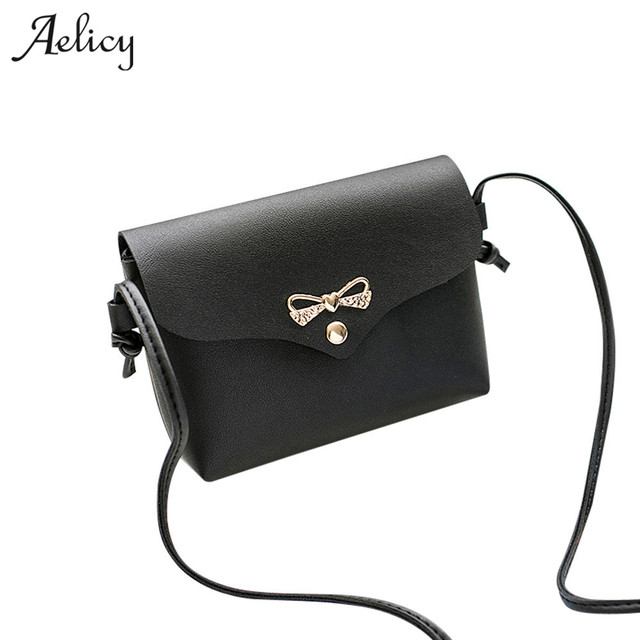 Aelicy Women Cover Bow Handbag PU Leather Women s Shoulder Crossbody Bags  for Ladies clutch Small Handbags Purse Bags Bolsos 6e11f0595ebc6