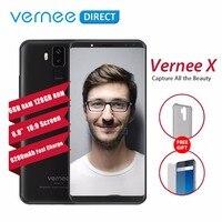 Оригинальный Vernee X 6 ГБ Оперативная память 128 ГБ Встроенная память цвет: черный, синий смартфон Face ID Android 7,1 Octa Core 18:9 Быстрая зарядка 6200 мАч моби