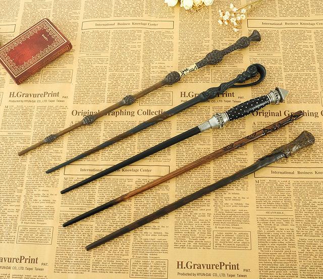 New Metal Core Hermione Granger Magic Wand/Harry Potter Varinha Mágica/Embalagem Da Caixa de Presente de Alta Qualidade