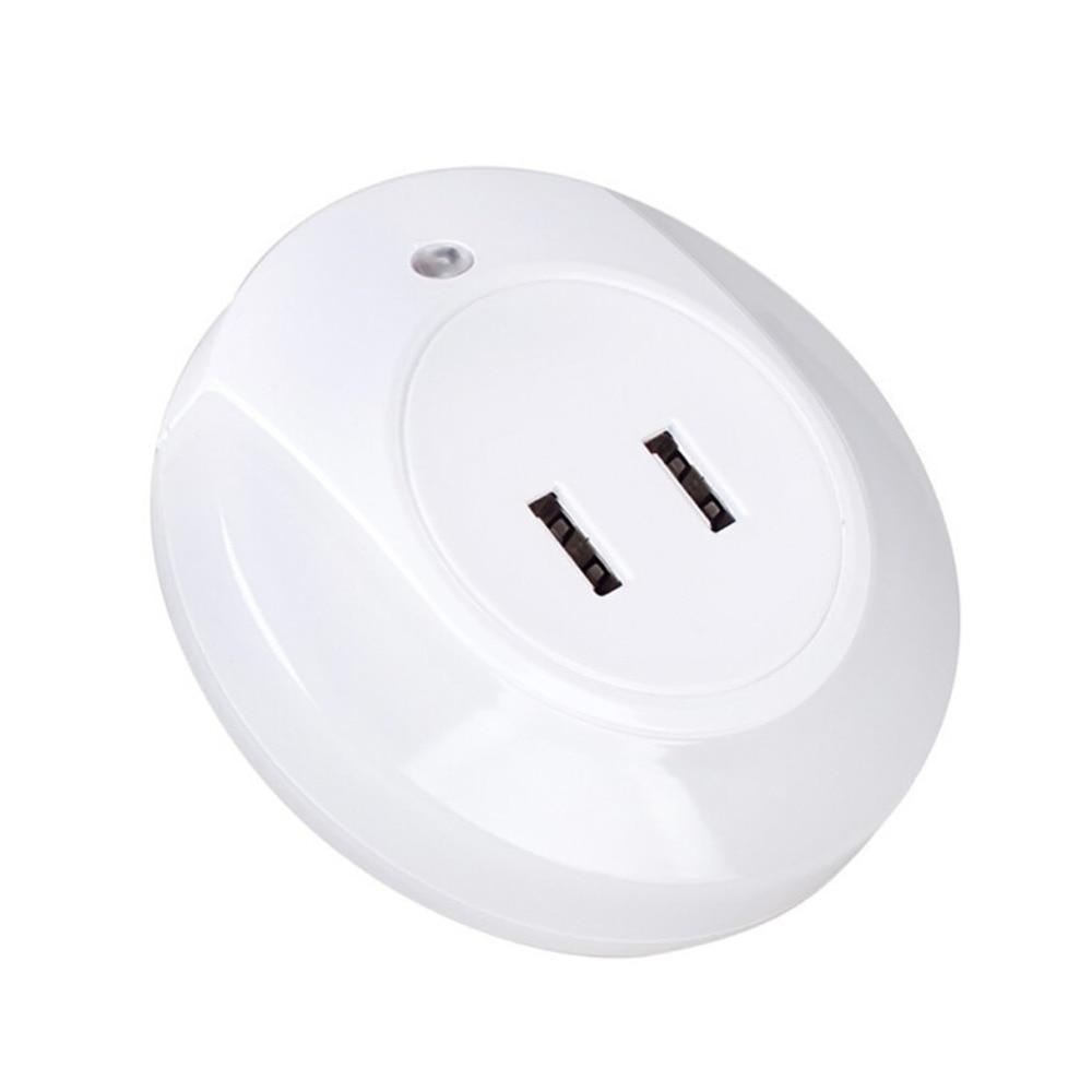 Led night light warm white - High Quality 3 Modes Led Night Light With Light Sensor Dual Usb Charger Us Plug Warm White For Bedroom Living Room Home Lighting