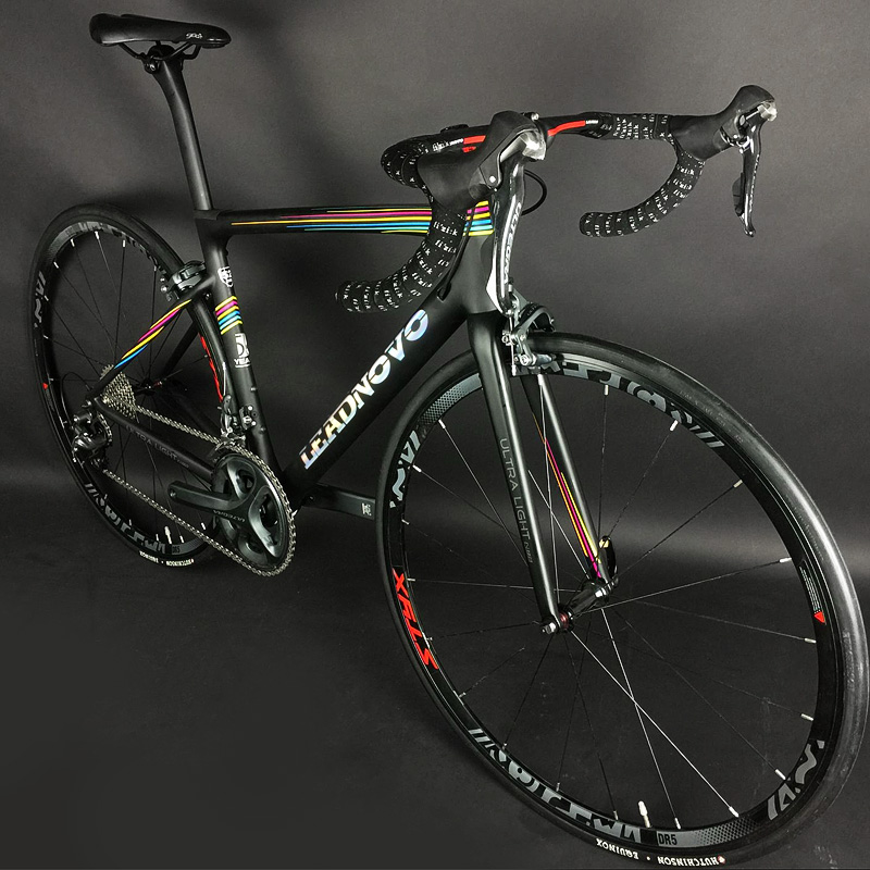 Top 700C complete Carbon Fiber Road Bike carbon frame UD bsa bb30 pf30 Racing Cycling FramesetSH1MANO 5800 1
