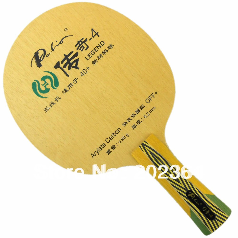 Palio Legend-4 (Legend4, Legend 4) 5 Wooden + 2 Arylate-Carbon (OFF+) Table Tennis Blade for Ping Pong Racket yinhe earth 4 e4 e 4 e 4 shakehand table tennis ping pong blade