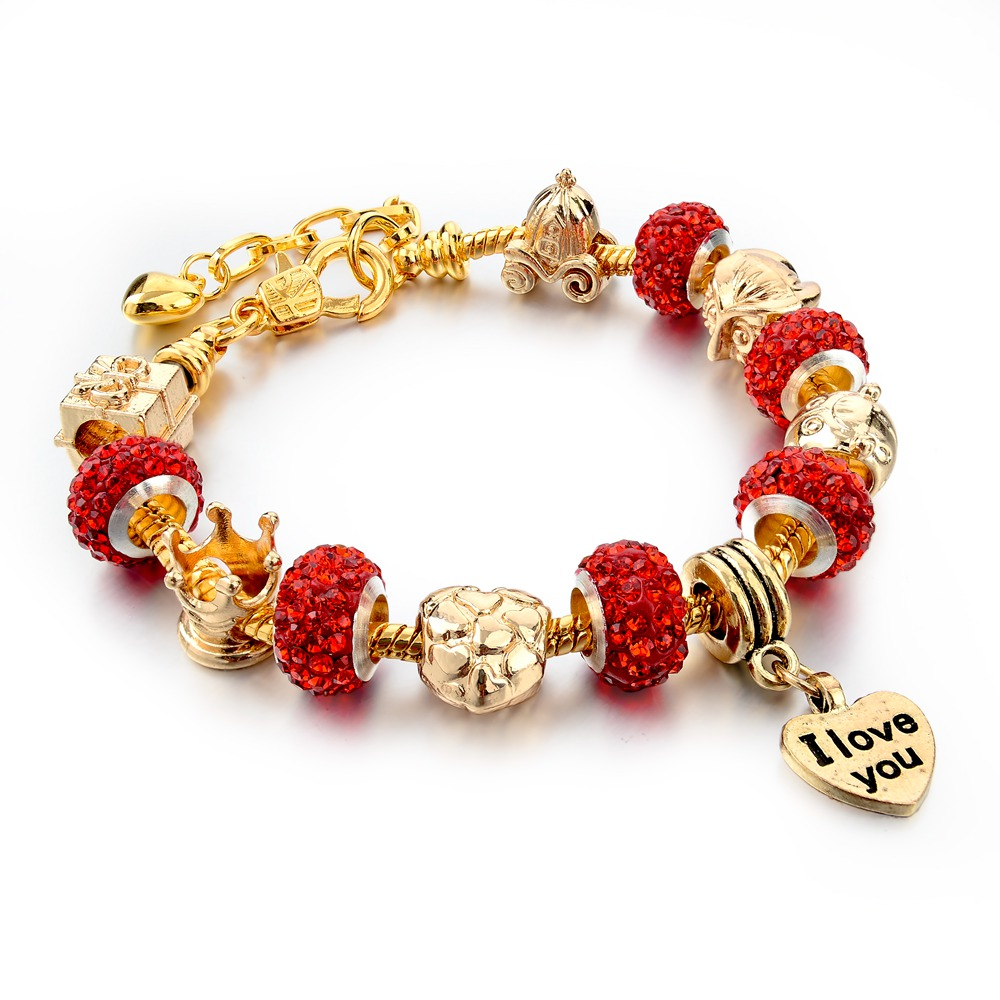 Aliexpress : Buy Longway Crystal Beads Bracelets For Women Friendship  Love Charm Gold Color Chain Diy Bracelets & Bangles Sbr150122 From Reliable