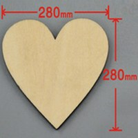 6pcs/lot Blank unfinished wooden heart crafts supplies laser cut rustic wood wedding rings ornaments 280mm 171142