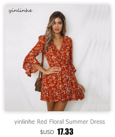 fab9684879573 Detail Feedback Questions about yinlinhe Red Summer Dress 2018 Short ...