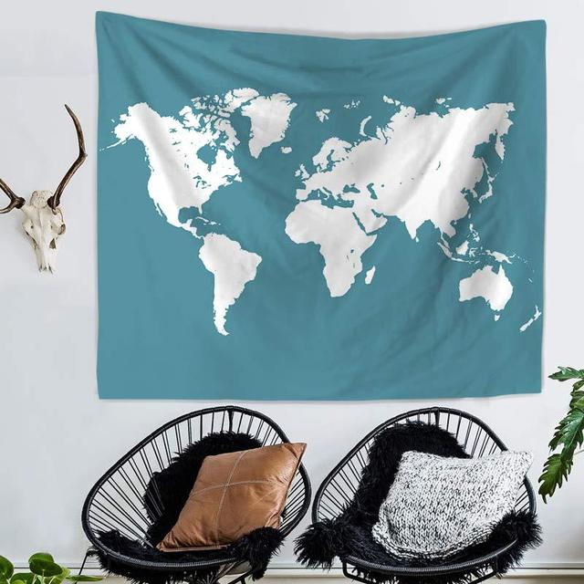 Wall tapestry watercolor world map wall decor large wall hanging wall tapestry watercolor world map wall decor large wall hanging wall art 150x130cm200x150cm gumiabroncs Image collections
