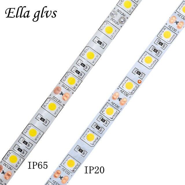 LED Strip 5050 DC12V 50cm/100cm/200cm IP65/IP20 For Holiday Christmas Party Indoor Decoration LED Strip Ribbon lamp Tape