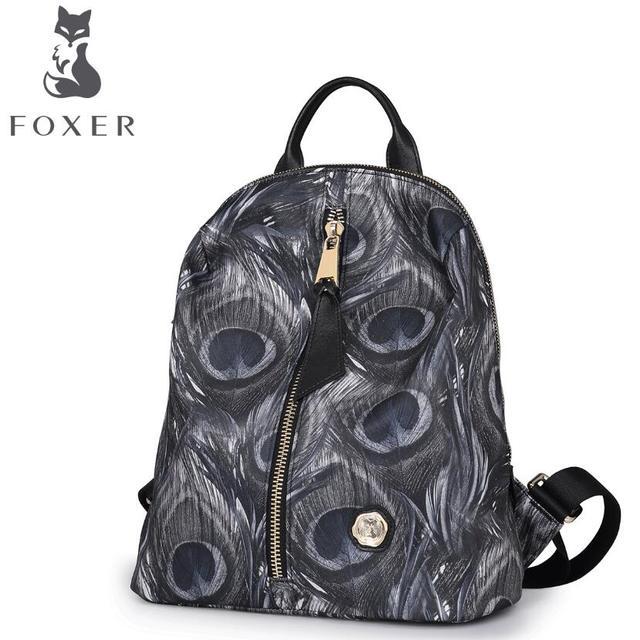 FOXER   gold fox new ladies shoulder bag fashion casual wild trendy female  backpack 25506f763b47f