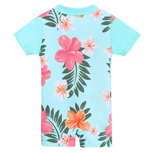 Baby Girl Swimwear Rash Guard Short Sleeve Sun Protection