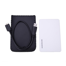 "2016 High Speed External HDD Enclosure 2.5"" inch USB 3.0 Hard Disk Drive Enclosure White Case"