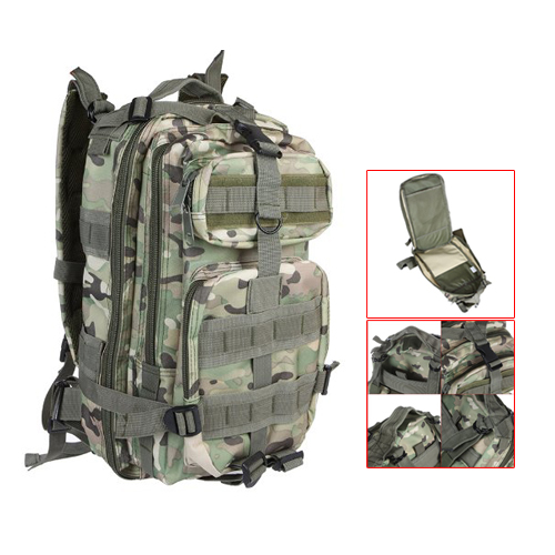 30L Outdoor Sport Military Tactical Backpack Rucksacks Camping Hiking Trekking <font><b>Bag</b></font> CP Camouflage