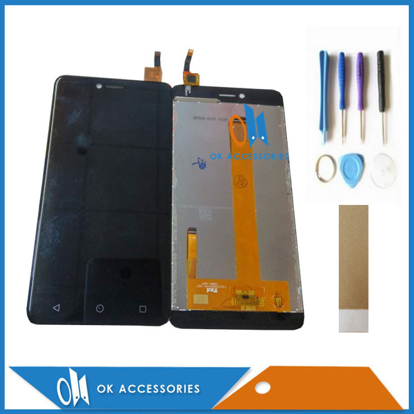 Black White Gold Color For BQ BQS 5059 BQS-5059 Strike Power LCD Display With Touch Screen Digitizer With Tools Tape 1PC/Lot