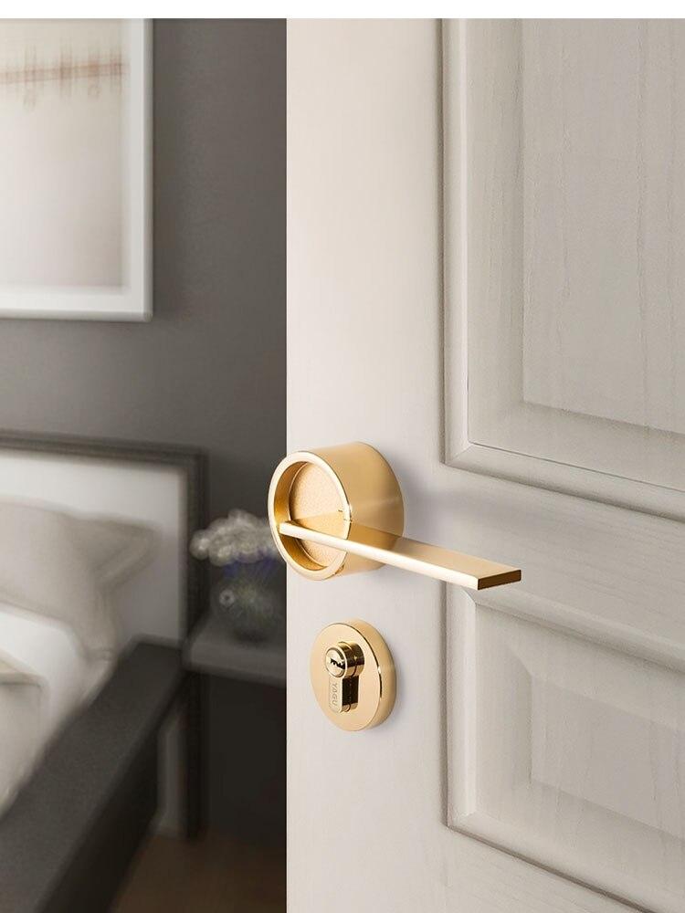 New Nordic serrure de porte pour portes intérieures en bois massif moderne minimaliste intérieur Chambre porte Poignée Ensemble Multi Couleur