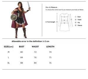 Image 2 - למבוגרים נשים רומי נסיכת זינה גלדיאטור תלבושות ליל כל הקדושים קרנבל המפלגה Spartan 300 לוחמי חייל קוספליי תלבושת
