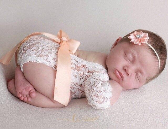 Белое кружевное платье для малышей повязка на голову, детский наряд реквизит фон для фотографирования малышей с цветочной вышивкой Винтаж новорожденных оборудование для съемки