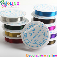 2016 new 0 3MM 20M Roll Wire line mixed multicolor plated font b Beaded b font