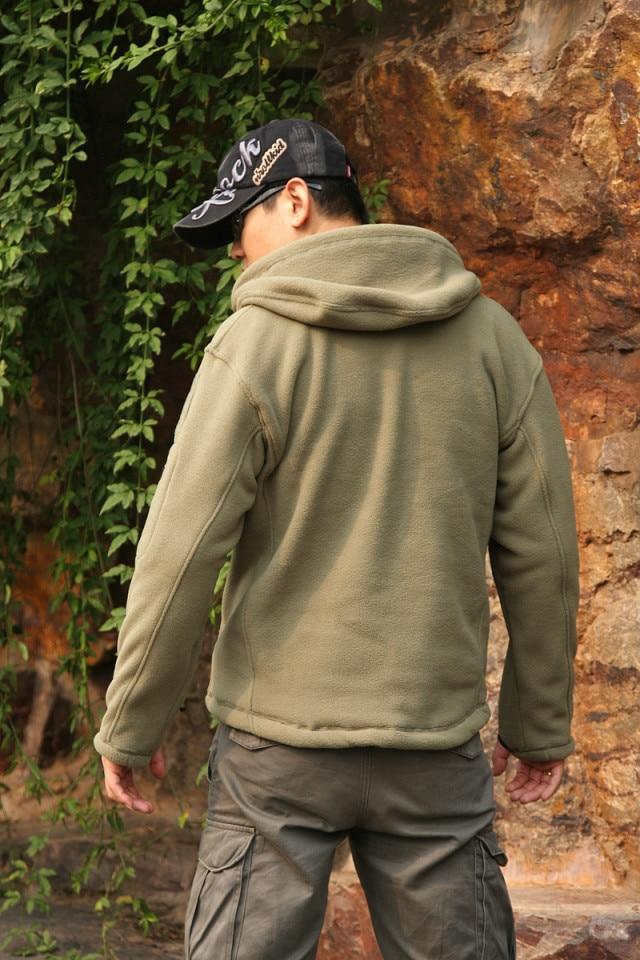 TAD jacket military tactical jacket for men Gear hoodied fleece warm jacket outdoor combat coat army green GRAY BK SAND