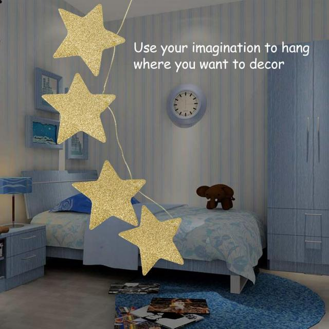 2018 Lovely Kids Room Hanging Stars Decoration 2 Colors For Weddings Parties Birthday Children's Rooms Mosquito Nets Wall Window