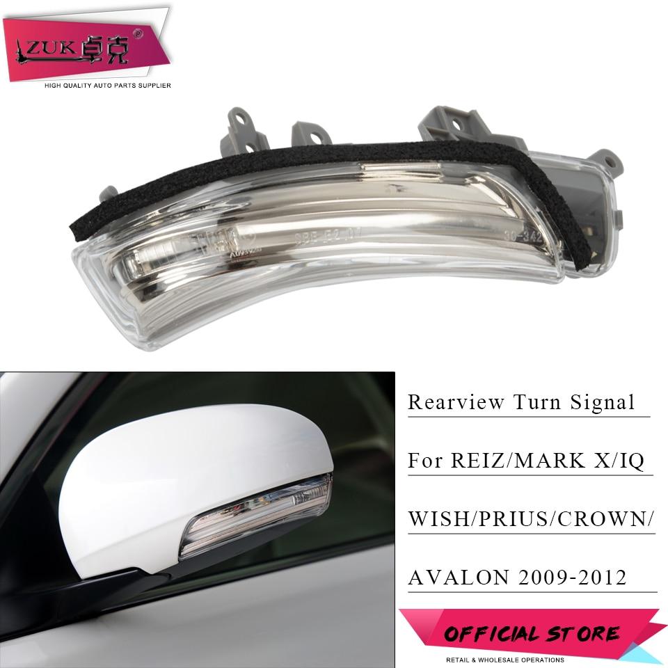 ZUK Rearview Mirror LED Turn Signal Flasher Light Lamp For Toyota PRIUS REIZ MARK X AVALON WISH CROWN 2009 2010 2011 2012 2013
