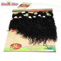 8 шт./лот необработанные качества волос бразильский натуральных волос Связки Джерри Вьющиеся Расширение короткие волосы выпадения волос Curl