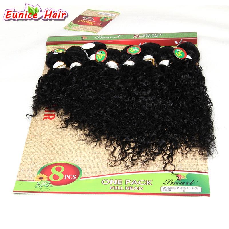 8pcs / lot Obehandlad kvalitet hårförlängning brasilianska - Syntetiskt hår - Foto 1