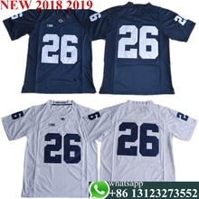 Youth Saquon Barkley 26 College Jerseys Navy White Stitched SIze S-XL free shipping(China)