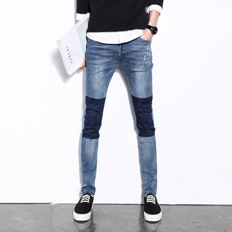 ZEESHANT Brand Ripped Zipper Jeans For Men Skinny Distressed Slim Famous Designer Biker HipHop Blue Slim Jeans Pants Trousers 2017 fashion patch jeans men slim straight denim jeans ripped trousers new famous brand biker jeans logo mens zipper jeans 604