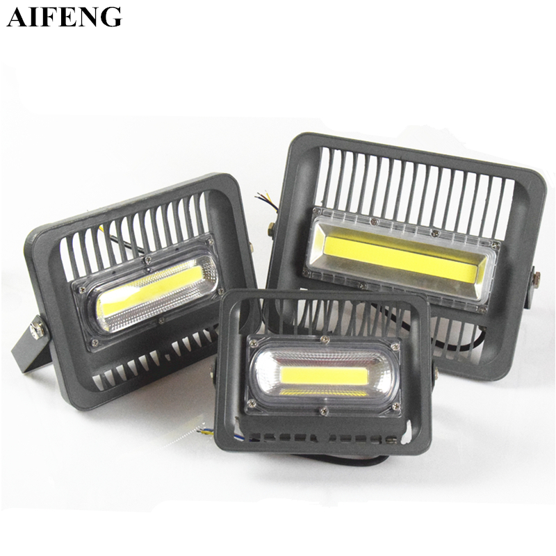 AIFENG Waterproof IP65 Led Flood Light 30W 50W 100W Floodlights AC 220V Outdoor Landscape Lighting Square Garden Wall Spotlights