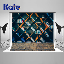 Kate Retro School Library Study Bookshelf Backgrounds For Photo Studio Scene Students Photography Background Photographic