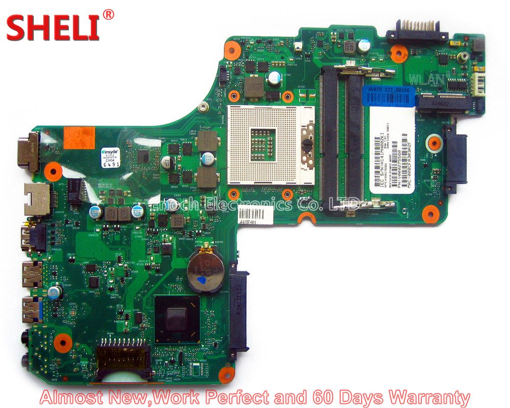 SHELI V000275560 Laptop Motherboard For Toshiba Satellite C850 C855 L850 L855 6050A2541801 UMA HD 4000 HM76 Main Board Works kefu h000052730 main board fit for toshiba satellite c850 c855 l850 l855 laptop motherboard hm70 ddr3 free cpu